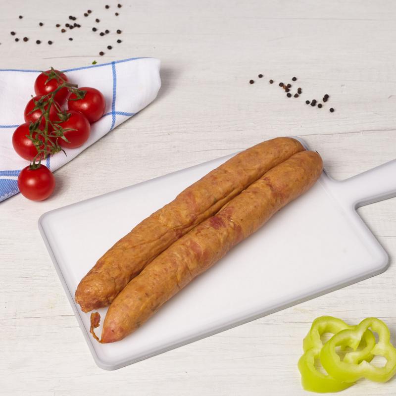 Димен дебел колбас со праз