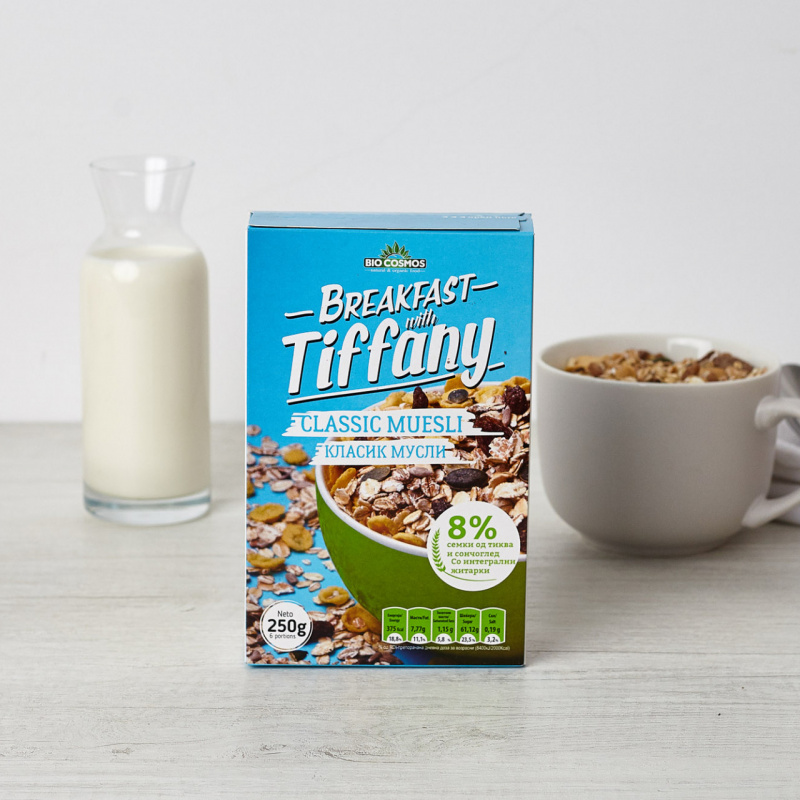 Класик мусли – Појадок со Тифани