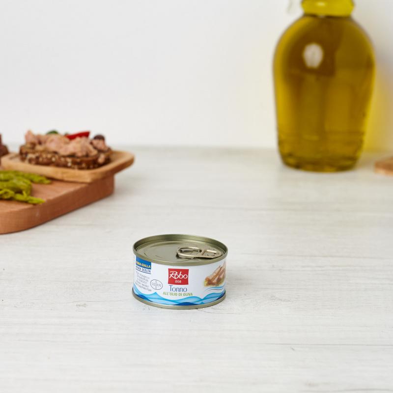 Риба туна жолтоперка во маслиново масло