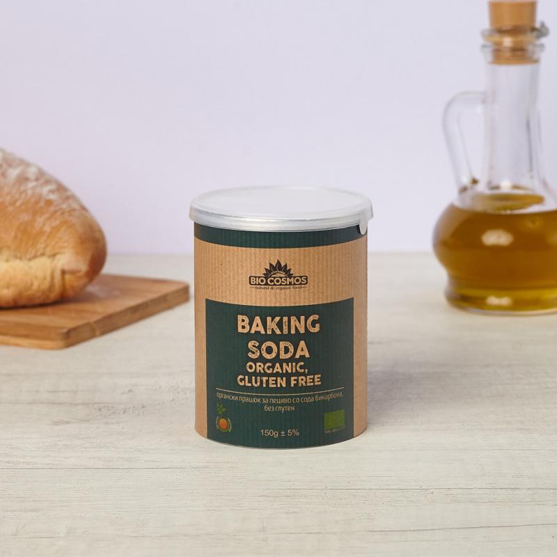 Безглутенски органски прашок за пециво со сода бикарбона