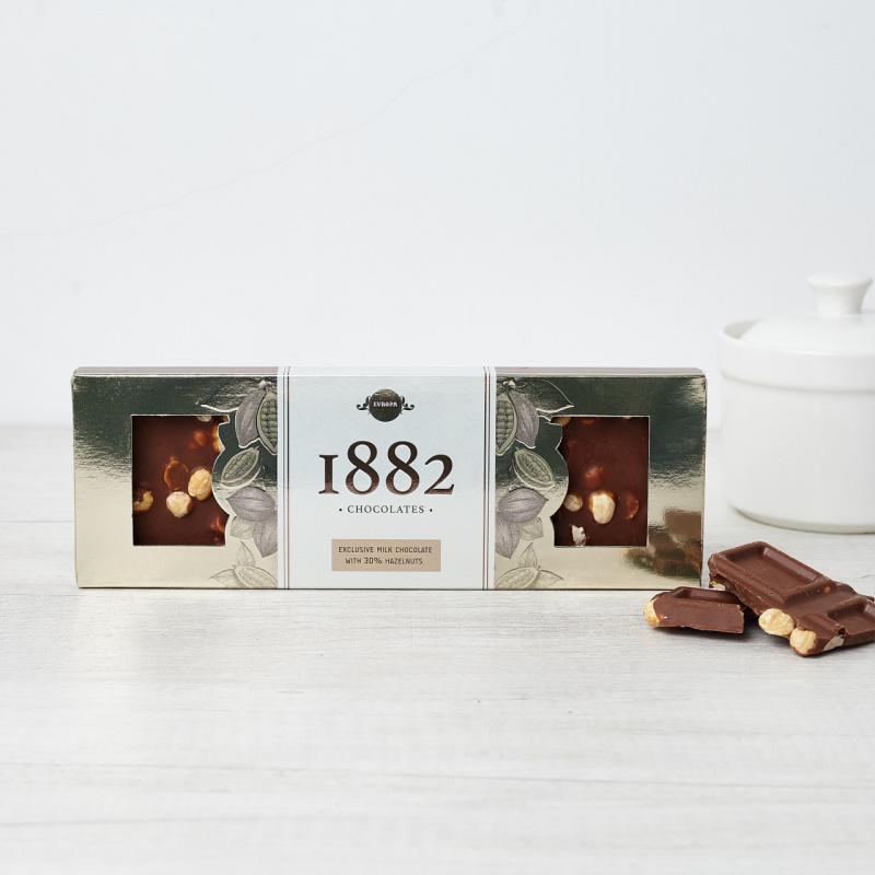 Ексклузивна млечна чоколада со лешник
