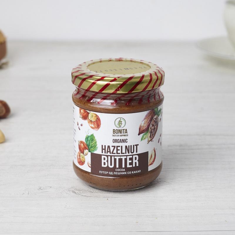Органски путер од лешник и какао