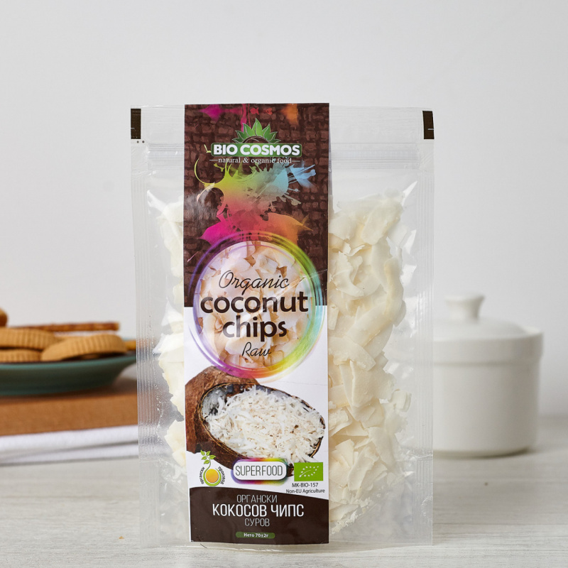 Органски кокосов чипс суров