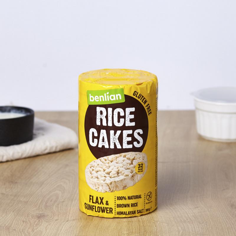 Оризови галети со лен и сончоглед