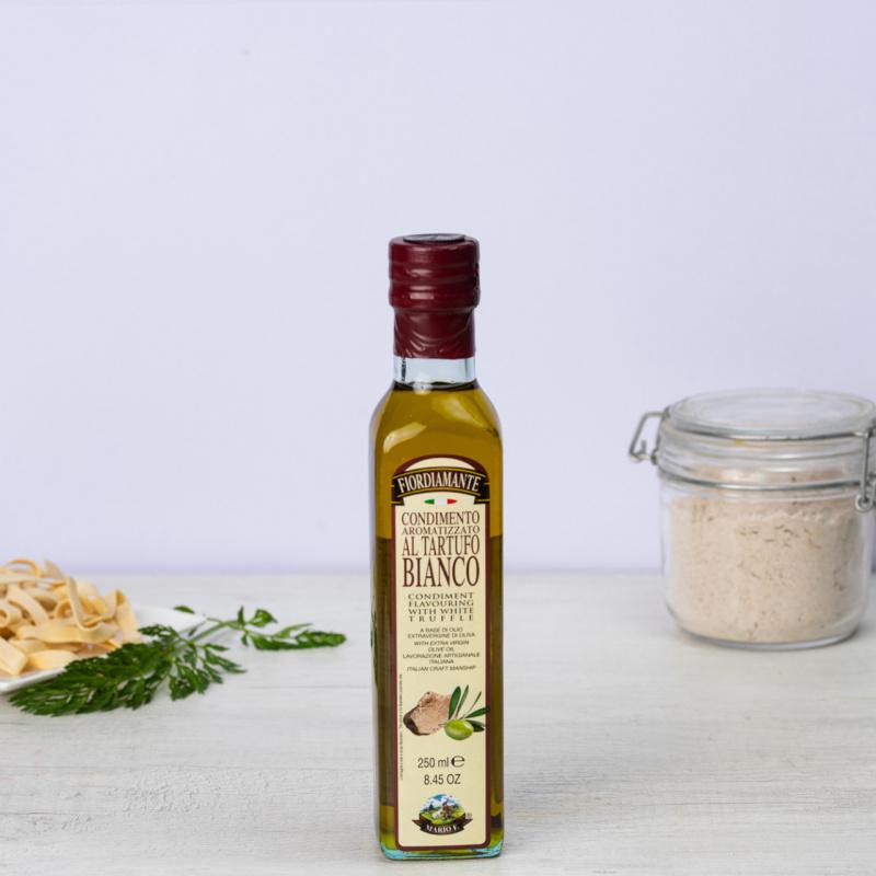 Екстра девствено маслиново масло ароматизирано со бел тартуф Fiordiamante