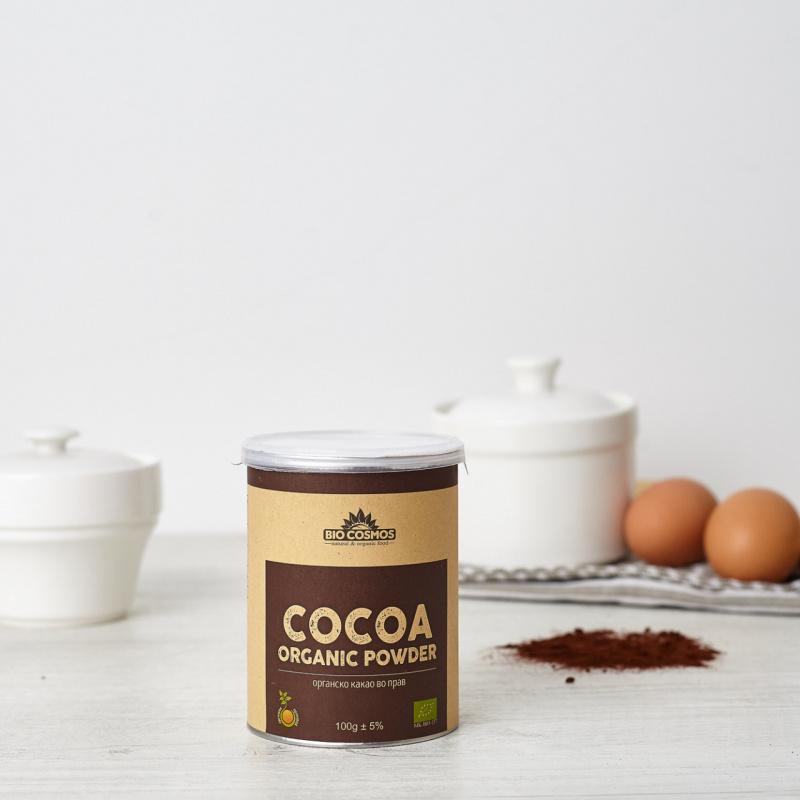 Органско какао во прав