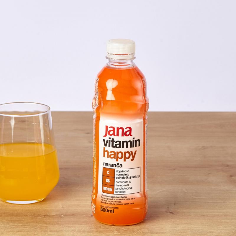 Минерална негазирана вода Jana Happy портокал