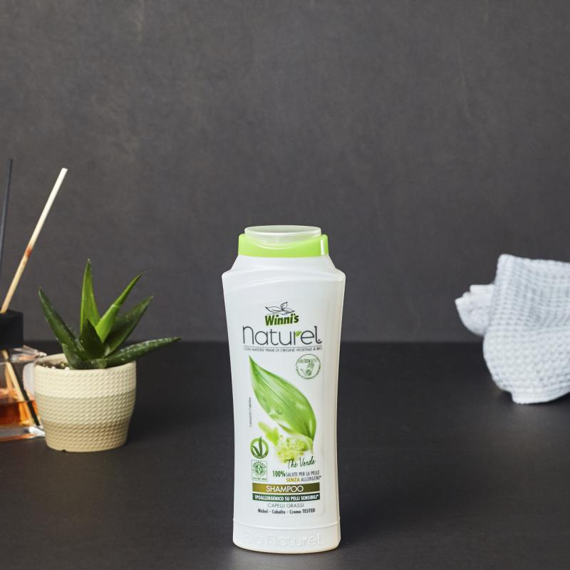 Природен шампон за мрсна коса со зелен чај