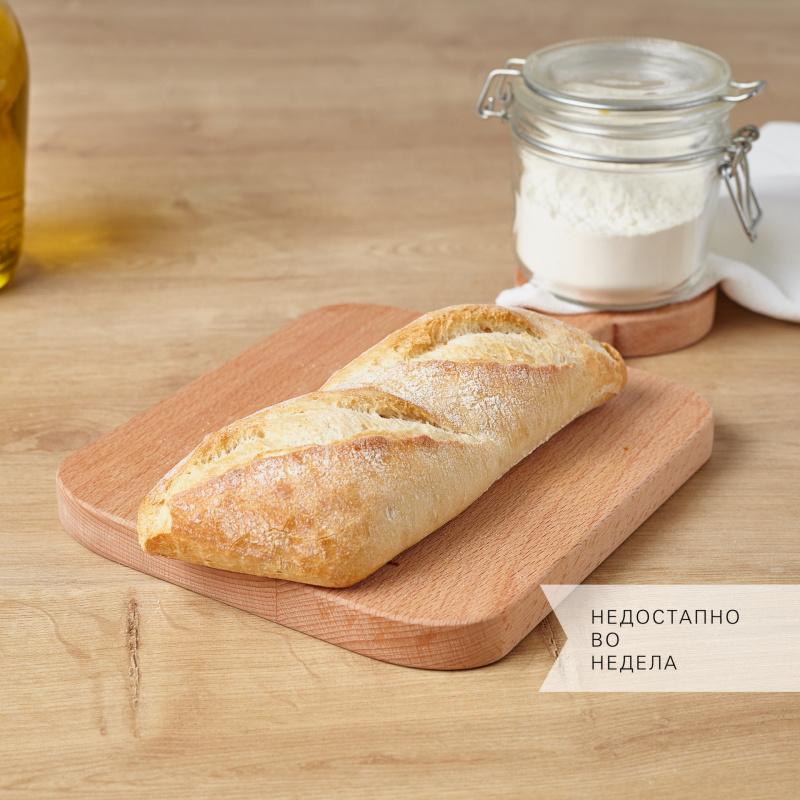 Рустичен рамен бел  багет