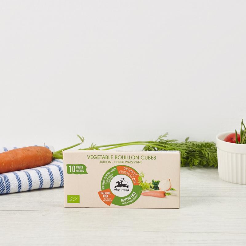 Органска коцка за зеленчукова супа без палмино масло