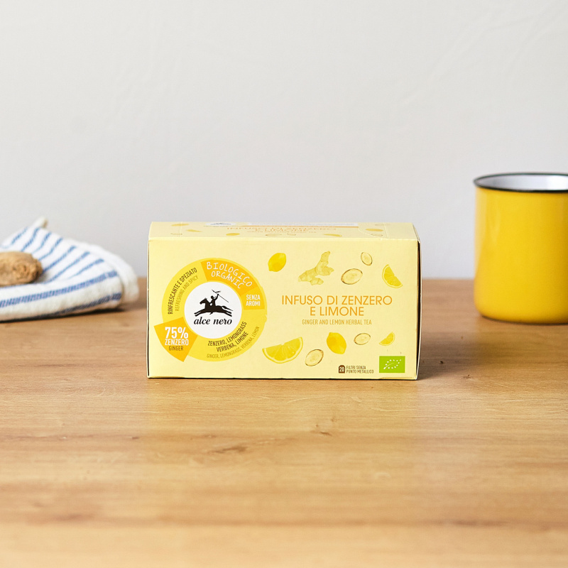 Чај од органски лимон и ѓумбир