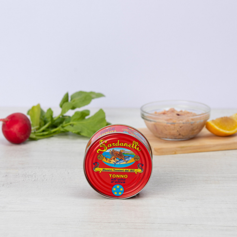 Туна жолтоперка во маслиново масло